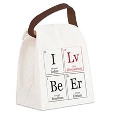 I Lv BeEr [Chemical Elements] Canvas Lunch Bag