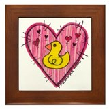 Ducky Love Framed Tile