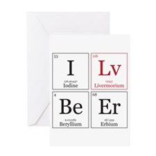 I Lv BeEr [Chemical Elements] Greeting Card