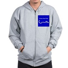 2-Gimpy, for apparell, grey.png Zip Hoodie