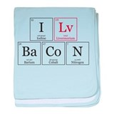 I Lv BaCoN [I Love Bacon] baby blanket