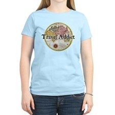 Travel Addict 'Style 2' Black T-Shirt T-Shirt T-Sh