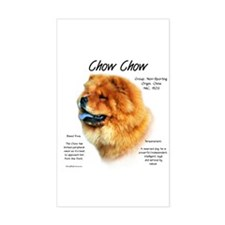 Chow Chow Rectangle Decal