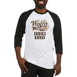 Dorgi Dog Dad Baseball Jersey