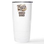Dorgi Dog Dad Ceramic Travel Mug