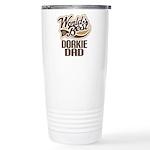 Dorkie Dog Dad Ceramic Travel Mug
