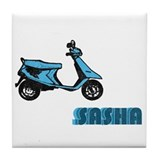 Scooter Sasha Tile Coaster