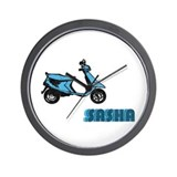 Scooter Sasha Wall Clock
