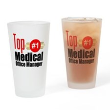 Top Medical Office Manager Drinking Glass
