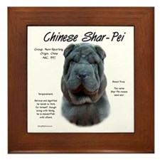 Blue Chinese Shar-Pei Framed Tile
