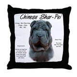 Blue Chinese Shar-Pei Throw Pillow