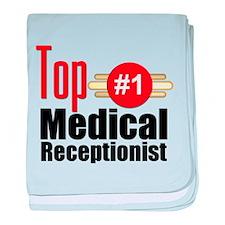 Top Medical Receptionist baby blanket