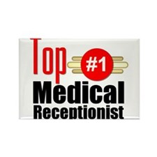 Top Medical Receptionist Rectangle Magnet