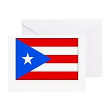 Puerto Rico Flag Picture Greeting Cards (Package o