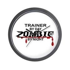 Trainer Zombie Wall Clock