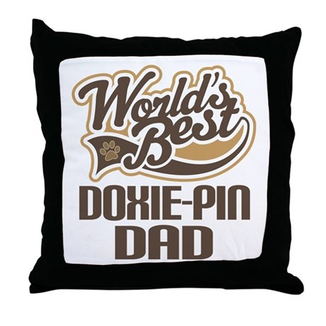 Doxie-Pin Dog Dad Throw Pillow