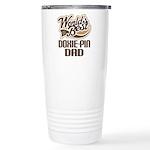 Doxie-Pin Dog Dad Ceramic Travel Mug