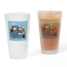 collie CRAZY Drinking Glass