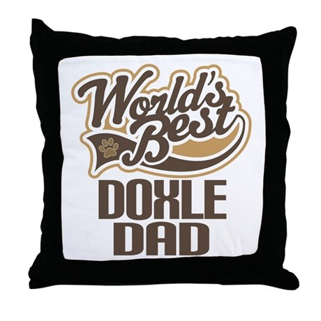 Doxle Dog Dad Throw Pillow