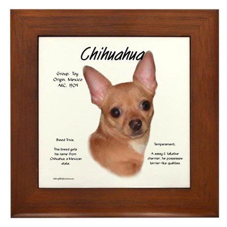 Smooth Chihuahua Framed Tile