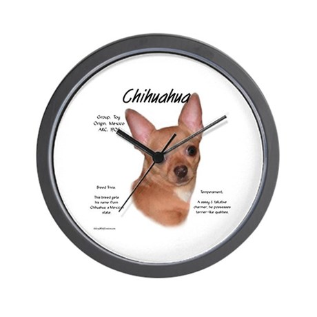 Smooth Chihuahua Wall Clock