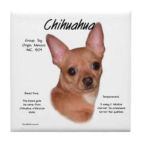 Smooth Chihuahua Tile Coaster