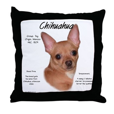 Smooth Chihuahua Throw Pillow
