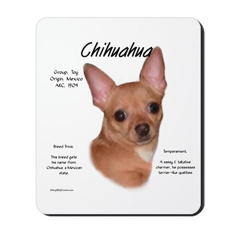 Smooth Chihuahua Mousepad