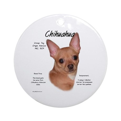 Smooth Chihuahua Ornament (Round)