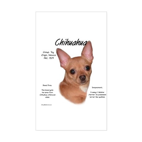 Smooth Chihuahua Rectangle Sticker