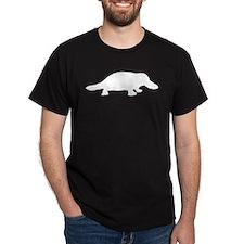 Platypus (Silhouette) Black T-Shirt