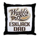Eskijack Dog Dad Throw Pillow