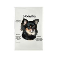 Longhair Chihuahua Rectangle Magnet