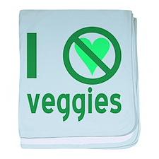 I Hate Veggies baby blanket