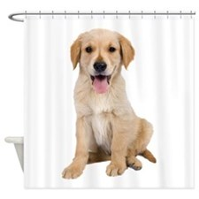 Golden Lab Puppy Shower Curtain