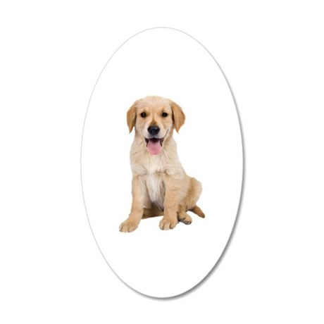 Golden Lab Puppy 20x12 Oval Wall Decal