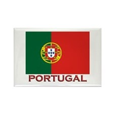 Portugal Flag Stuff Rectangle Magnet