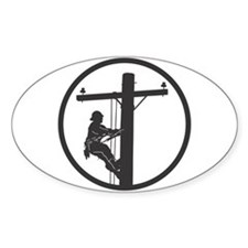 Lineman Decal (Rectangular) Decal
