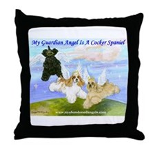 Cocker-Angels-Medium.jpg Throw Pillow