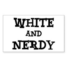 White And Nerdy Decal