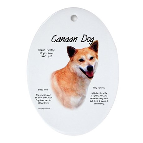 Canaan Dog Oval Ornament