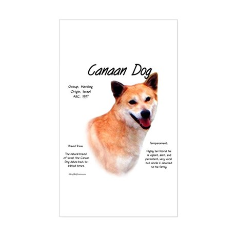 Canaan Dog Rectangle Sticker
