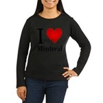 ilovemontreal.png Women's Long Sleeve Dark T-Shirt