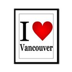 ilovevancouver.png Framed Panel Print