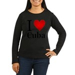 ilovecuba.png Women's Long Sleeve Dark T-Shirt