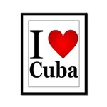 ilovecuba.png Framed Panel Print