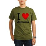 I Love Jamaica Organic Men's T-Shirt (dark)