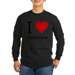 I Love Jamaica Long Sleeve Dark T-Shirt