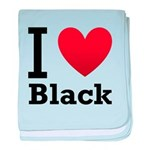 i-love-black-darkkkk-tee.png baby blanket