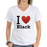 i-love-black-darkkkk-tee.png Women's V-Neck T-Shir